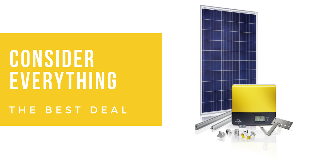 Consider everything for the best solar deals BY PERTH SOLAR WAREHOUSE