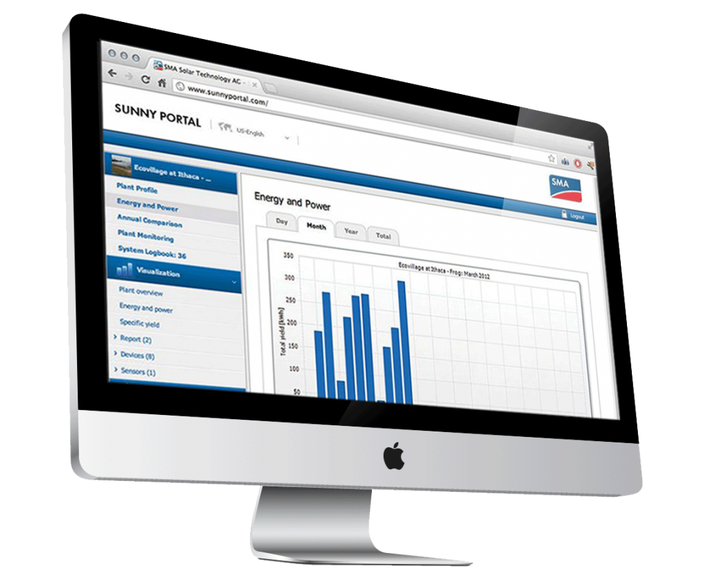Book an appointment and viewSMA Sunny Portal by PSW Energy