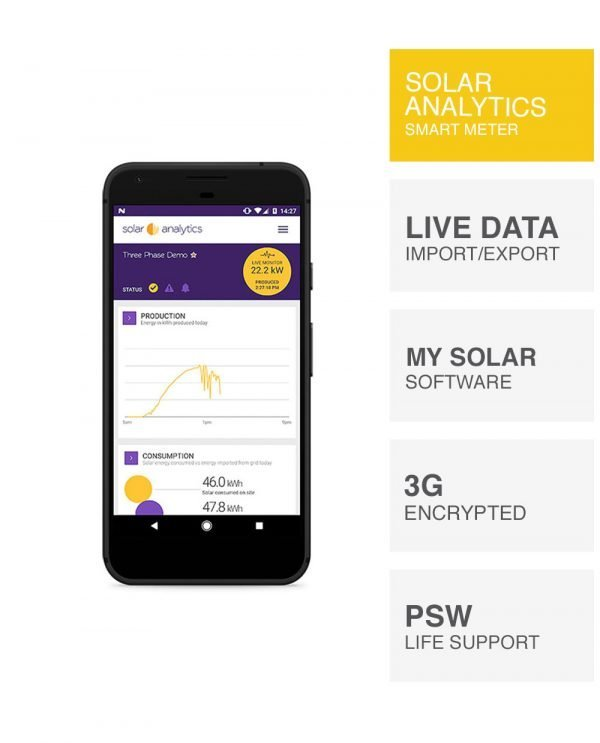 Solar Analytics monitoring by PSW Energy