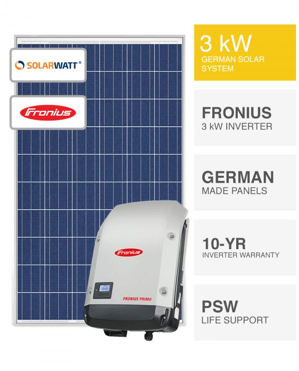 3kW SolarWatt & Fronius
