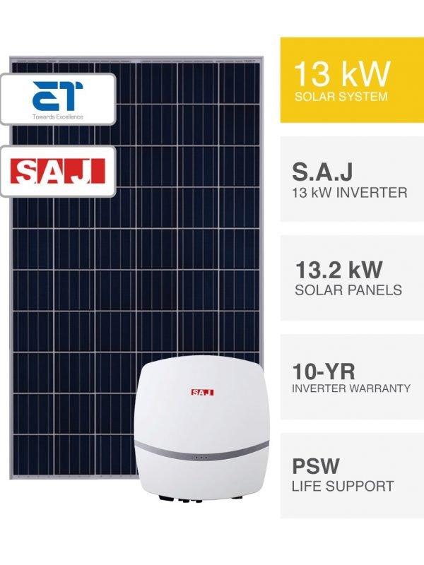 13kW ET & S.A.J Solar System