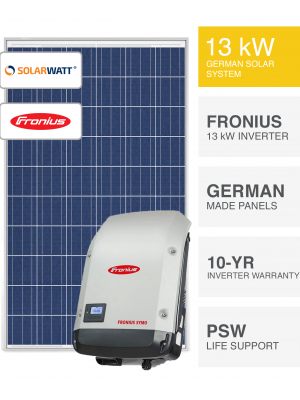 13kW SolarWatt & Fronius Solar System By Perth Solar Warehouse