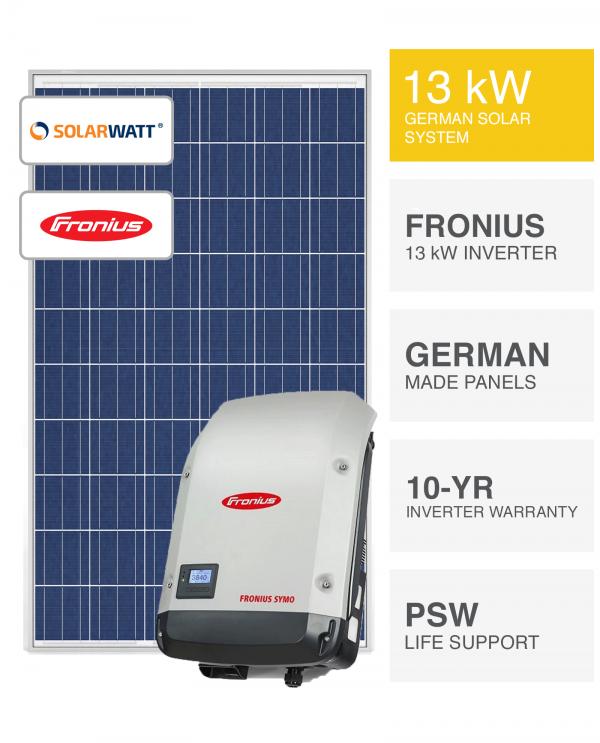13kW SolarWatt & Fronius Solar System By Perth Solar Warehouse