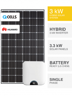 3kW QCell Huawei Solar System