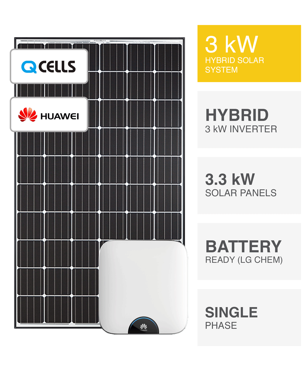 3kw Hybrid Solar System Battery Ready Save More