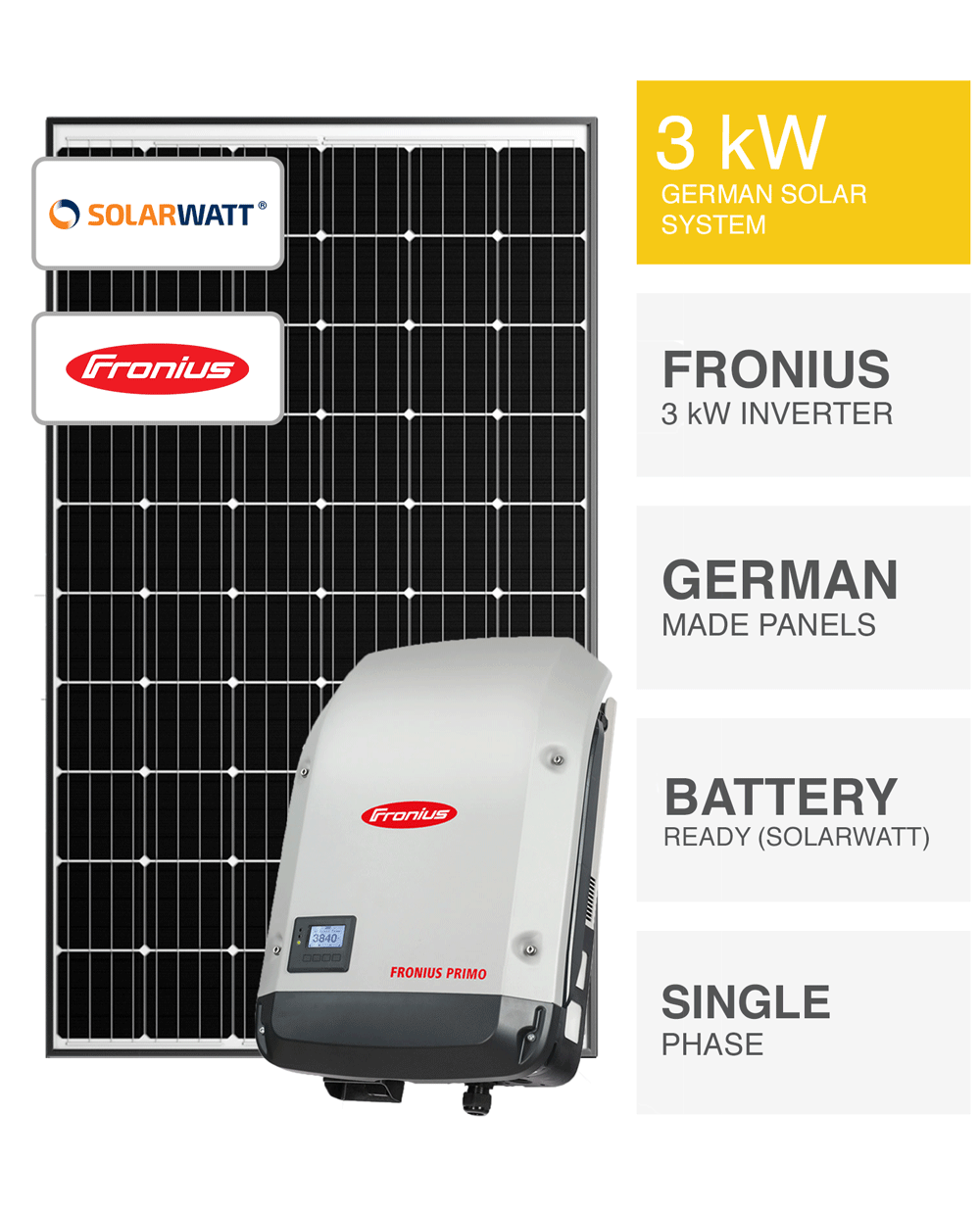 german 3kw solar system save more installed prices. Black Bedroom Furniture Sets. Home Design Ideas