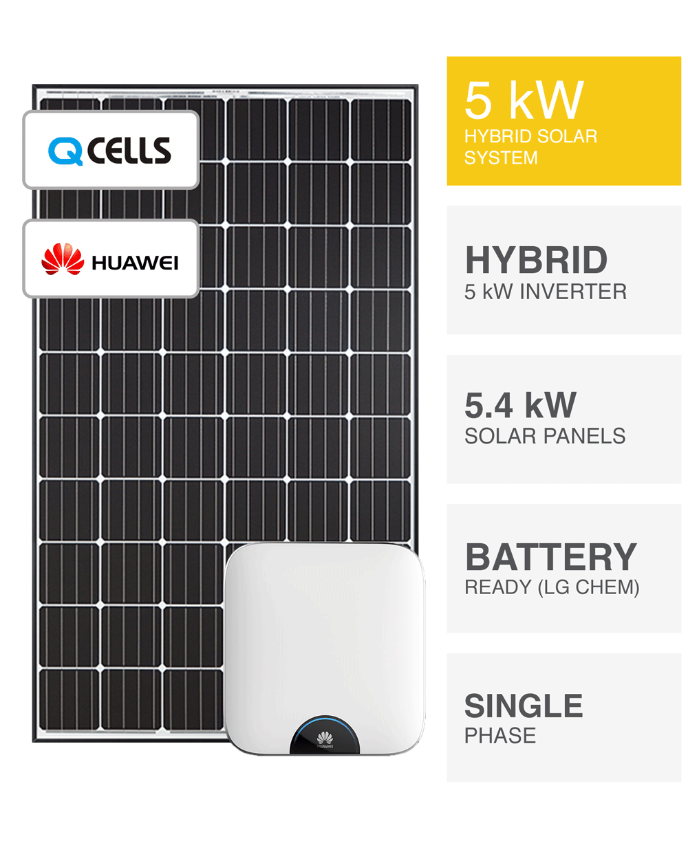 5kw Hybrid Solar System Battery Ready Save More