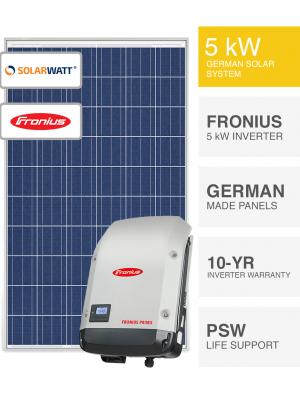 5kW SolarWatt & Fronius Solar System