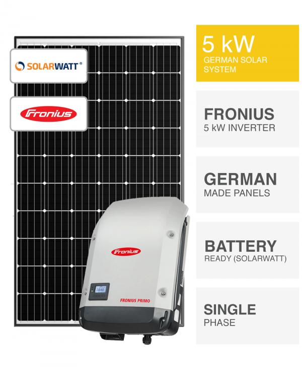 5kW SolarWatt Fronius Solar System