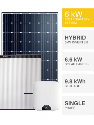 6kW Solar System with Battery