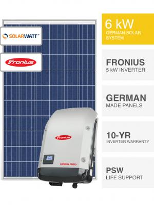 6kW SolarWatt & Fronius Solar System