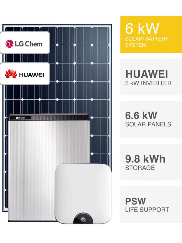 6kW Trina & Huawei with LG Solar System