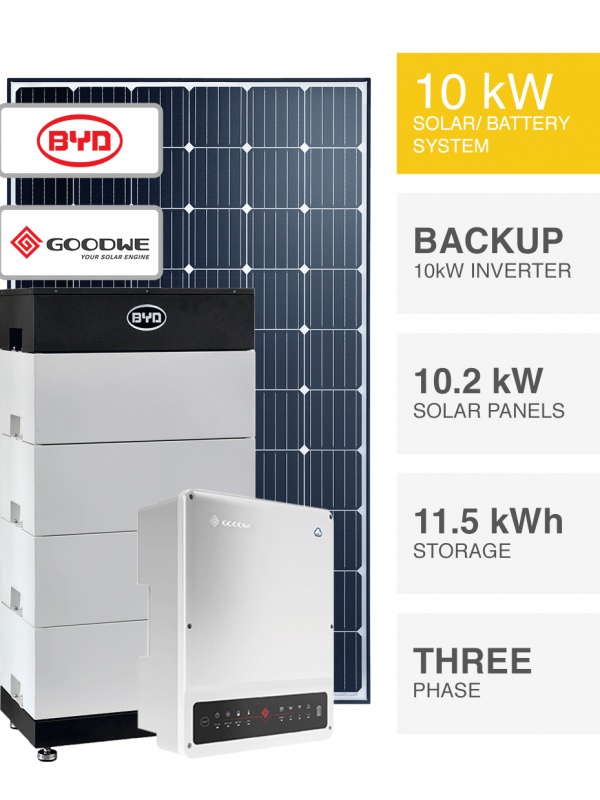 10kW 3-Phase Off Grid Backup Solar System