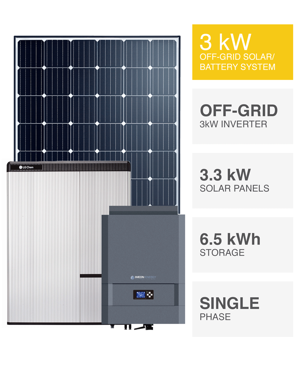 3kw Off Grid Solar System Save More Installed Prices