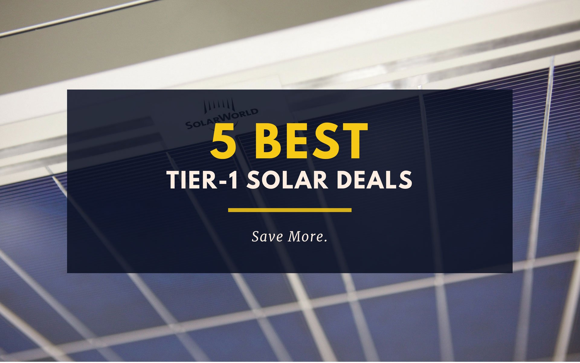 5 BEST Tier-1 Solar Deals Perth Solar Warehouse (PSW Energy)