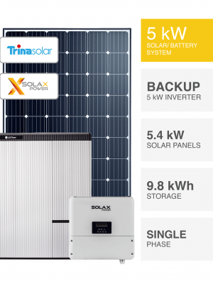 5kW Trina Solax Solar System