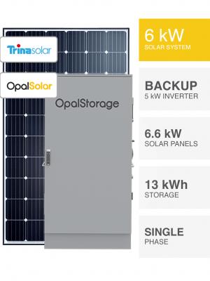 6kW Trina OpalStorage Solar System