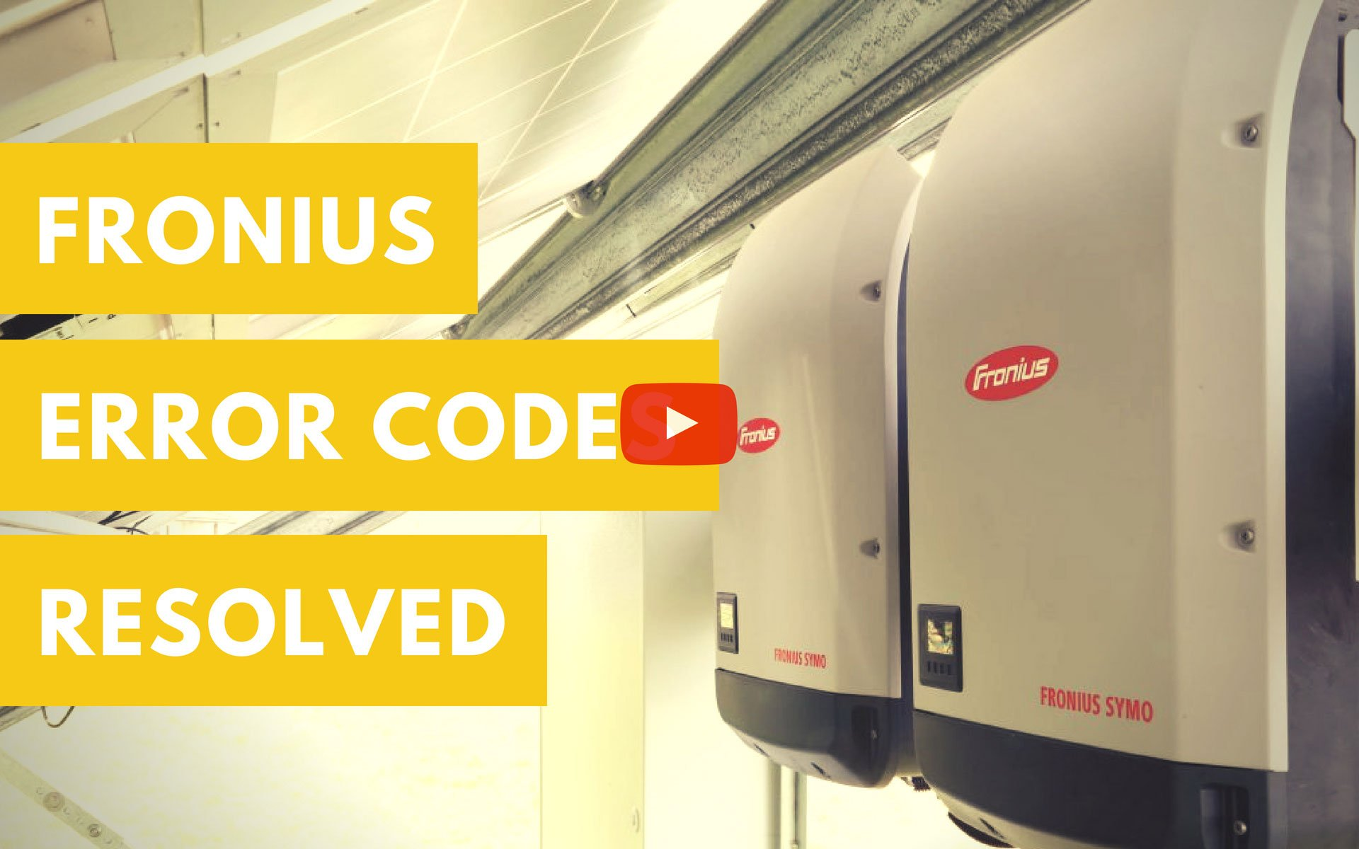 Fronius ERROR Codes Solved with PSW Energy (Perth Solar Warehouse)