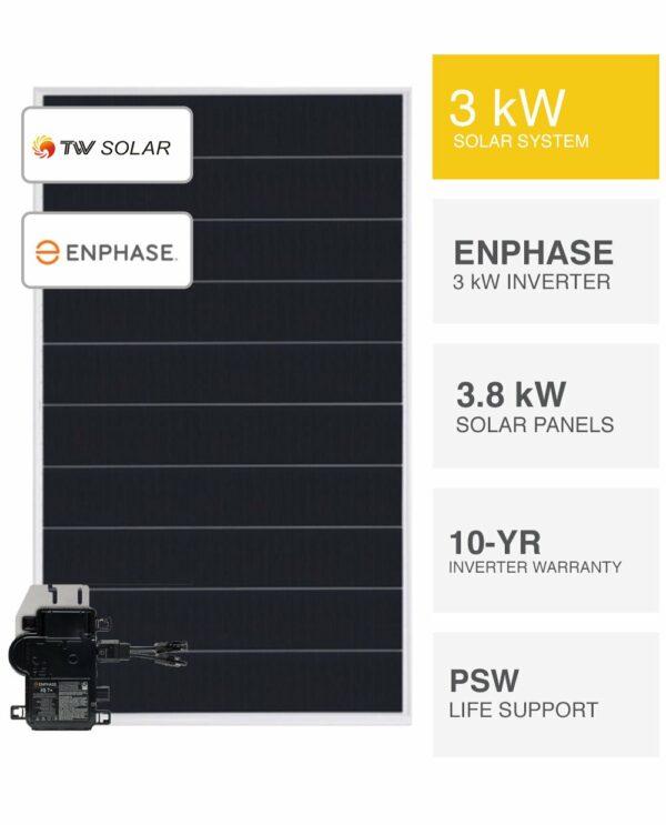 3kW Enphase & TW Solar System
