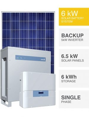 Delta 6kW Hybrid Solar Battery System
