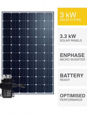 Enphase 3kW Solar System with Battery