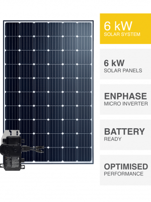 Enphase 6kW Solar System with Battery