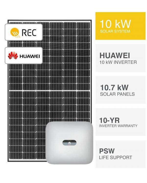 10kW REC & Huawei Solar System