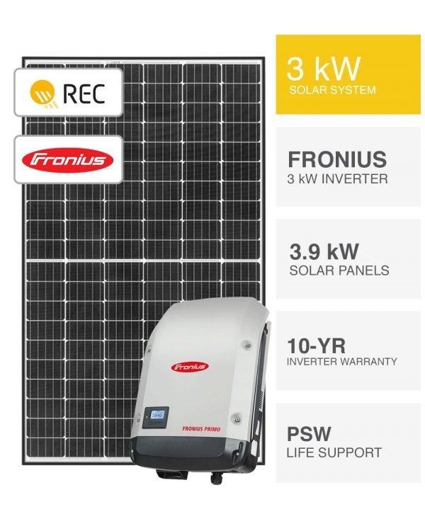 3kW REC & Fronius Solar System