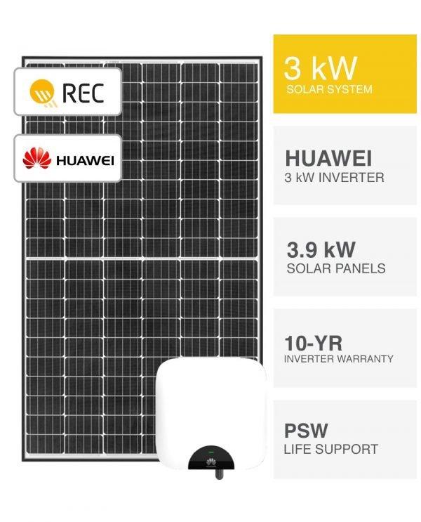 3kW REC & Huawei Solar System