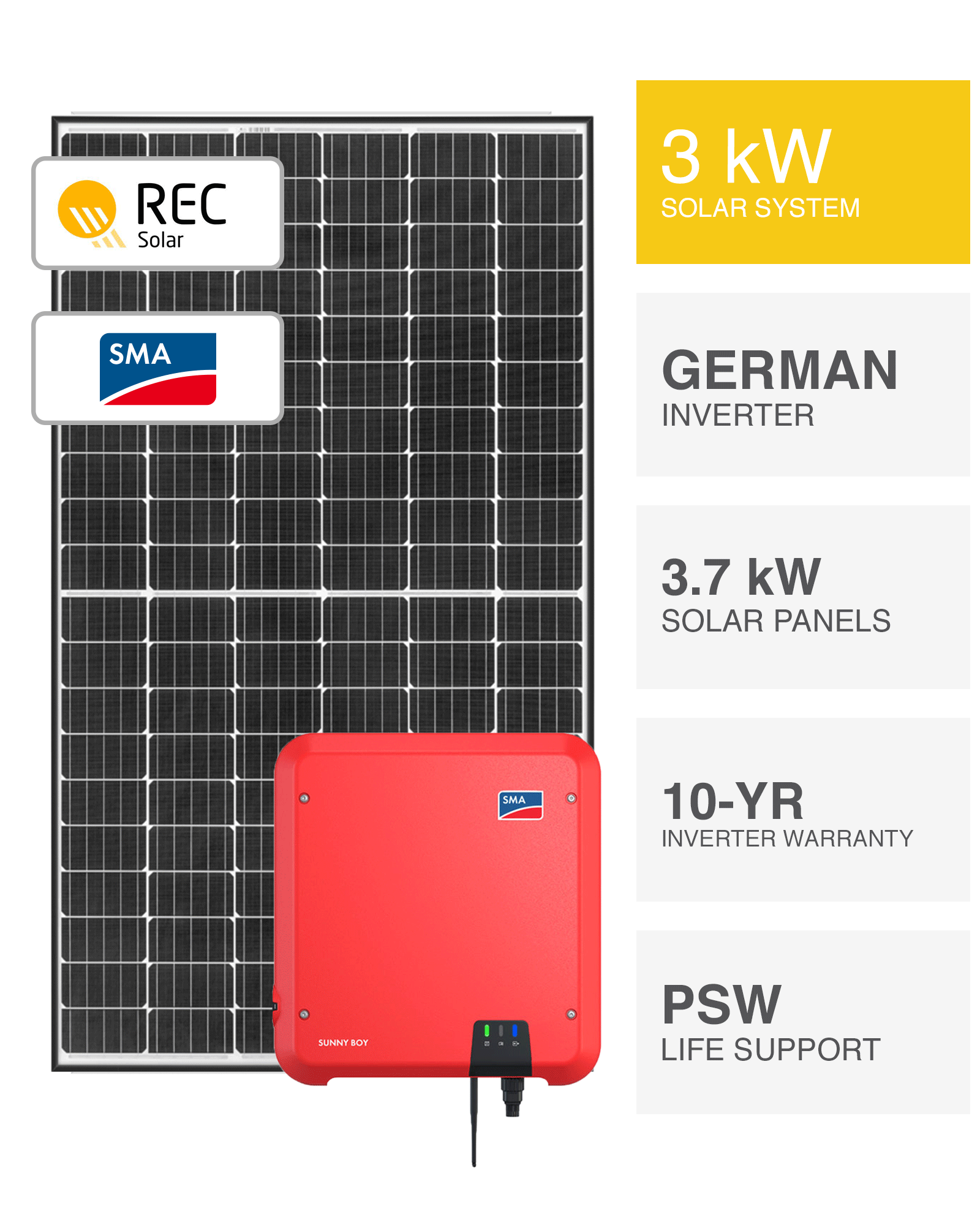Rec 3kw Solar System Save More Installed Prices Perth Wa