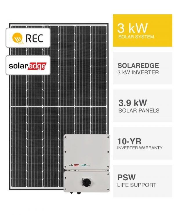 3kW REC & SolarEdge Solar System