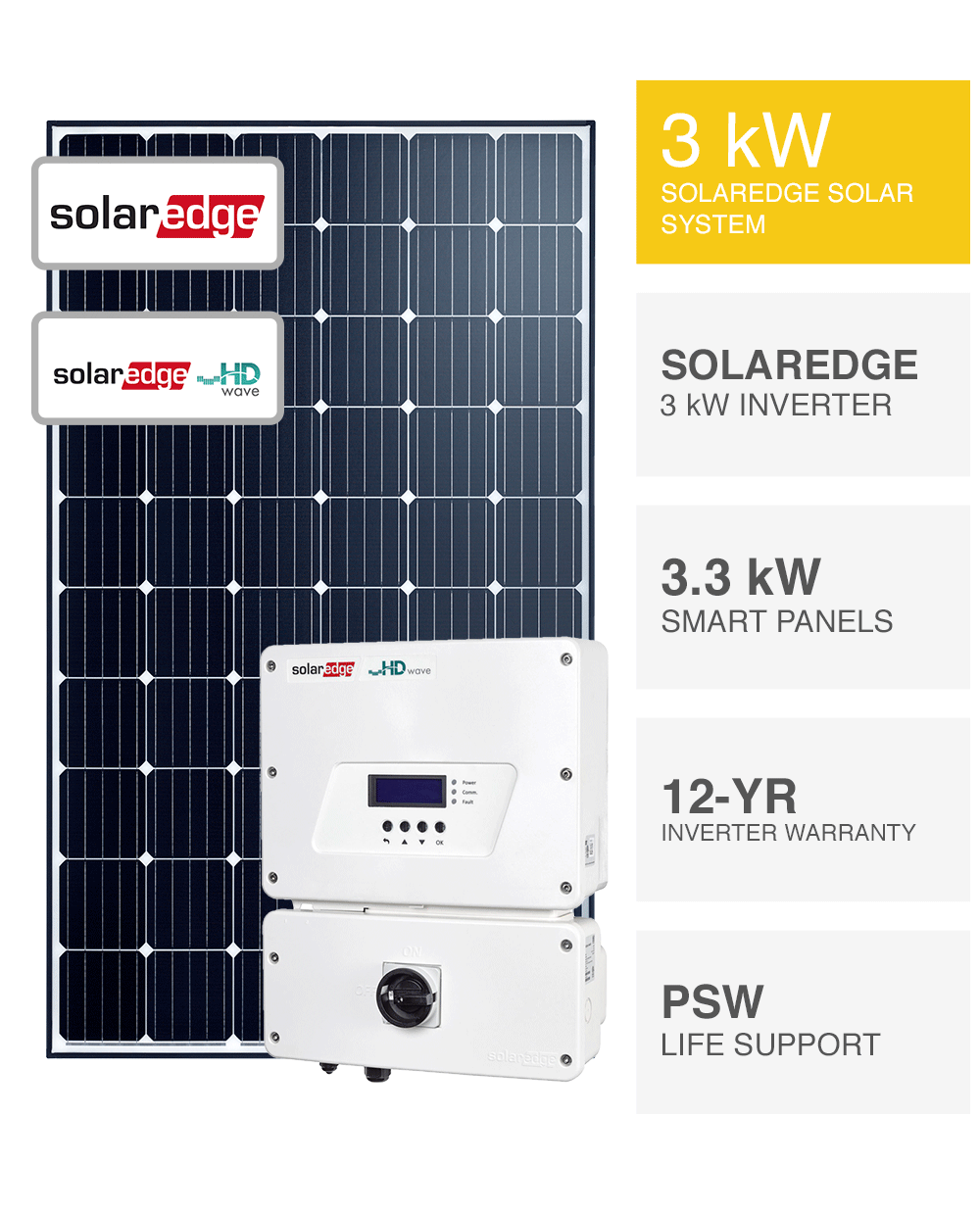Solaredge 3kw Solar System Save More Installed Prices Perth Wa