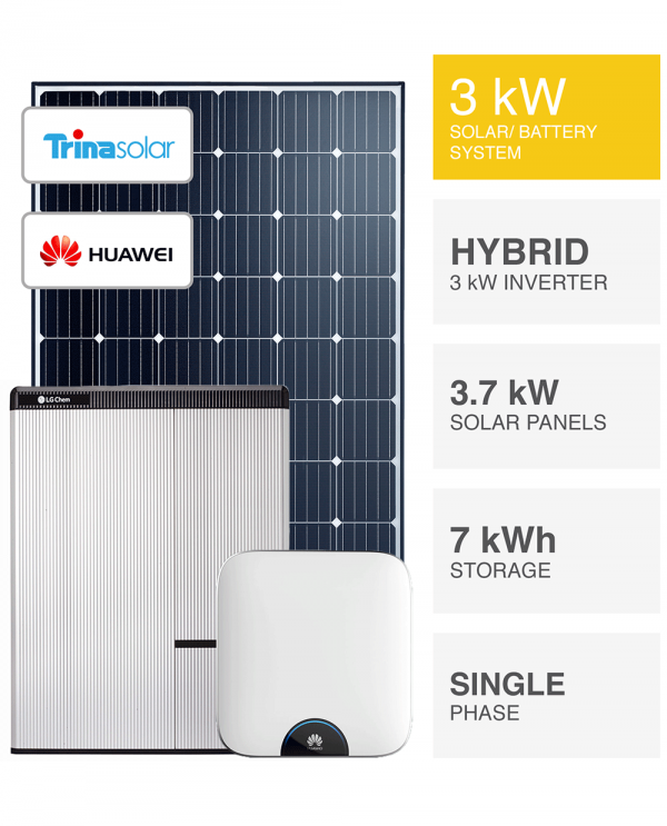 3kW Solar System with Battery, SAVE MORE (installed prices)