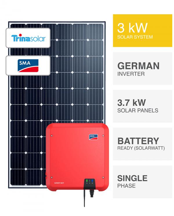 3kW Trina Solar & SMA