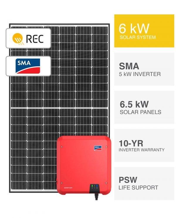 6kW REC & SMA Solar System