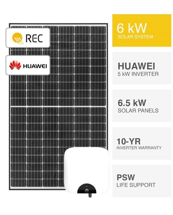 6kW REC and Huawei Solar System
