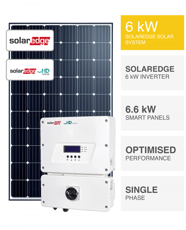 6kW SolarEdge HD Wave System