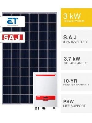 3kW ET & S.A.J Solar System