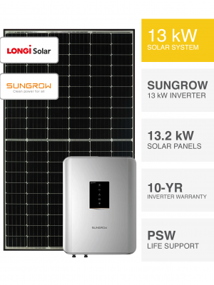 13kW LONGi Solar System by Perth Solar Warehouse