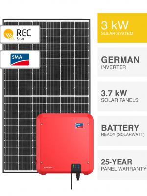 3kW REC & SMA Solar System