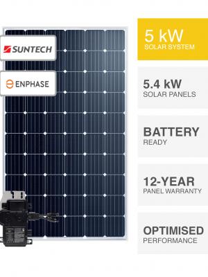 5kW Suntech & Enphase solar system