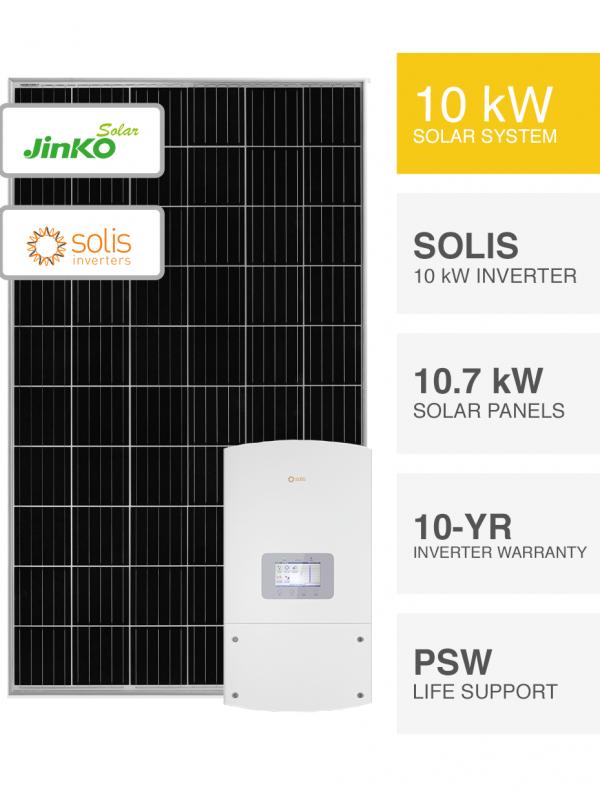 10kW Jinko solar & Solis Inverter Solar System