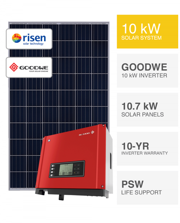 10kW Risen and Goodwe solar system by Perth Solar Warehouse
