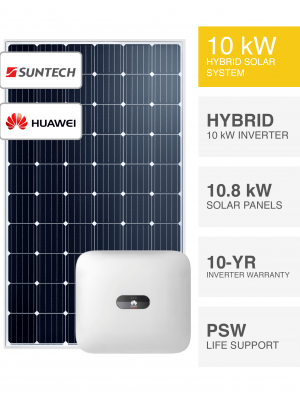 10kW Suntech & Huawei Solar System by Perth Solar Warehouse