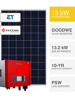 13kW ET and Goodwe System by Perth Solar Warehouse