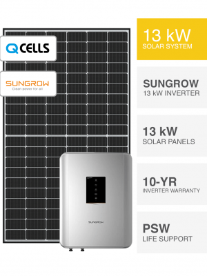 13kW QCells & Sungrow Solar System by Perth Solar Warehouse