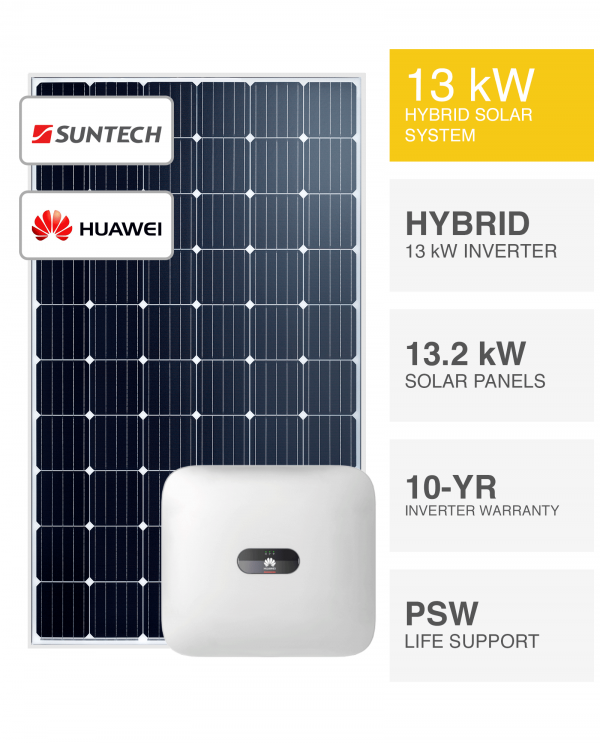13kW Suntech & Huawei Solar System by Perth Solar Warehouse