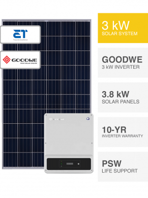 3kW ET and Goodwe System by Perth Solar Warehouse