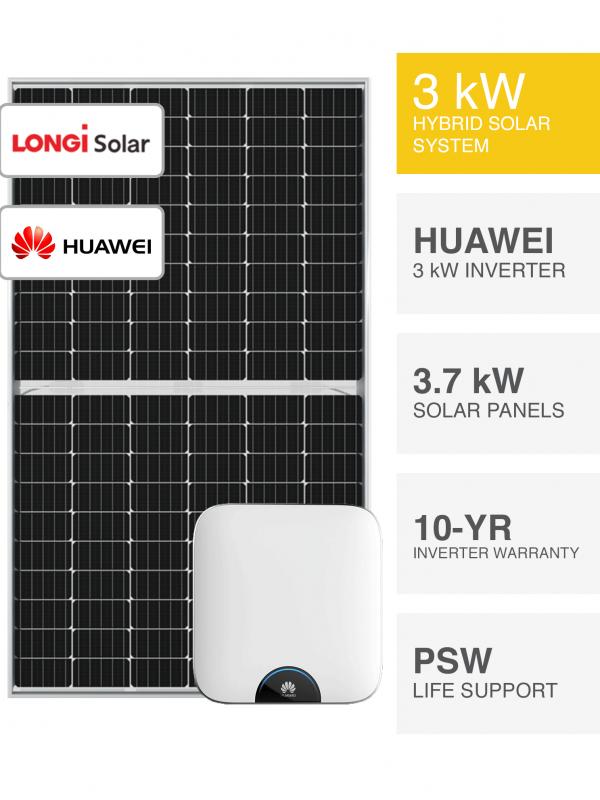 3kW Hybrid Solar System by PSW Energy