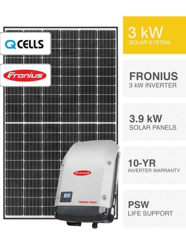 3kW QCELLS & Fronius Solar System